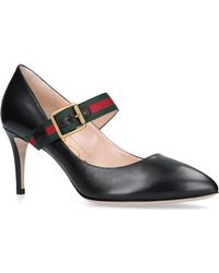 40e26ae3177 Gucci Nimue Mary Jane Pump in Black - Lyst