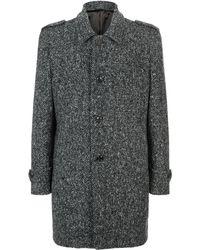 Harrods - Longline Wool Pea Coat - Lyst
