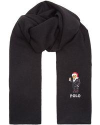 Polo Ralph Lauren - Santa Hat Bear Motif Scarf - Lyst