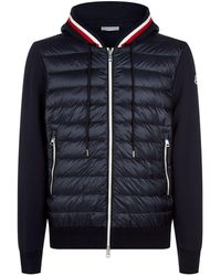 Moncler - Multi-textured Zip Up Cardigan - Lyst