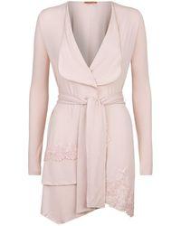 Ermanno Scervino - Lace Trim Jersey Robe - Lyst