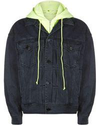 Juun.J - Neon Hooded Denim Jacket - Lyst