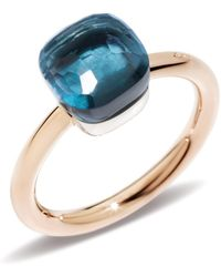 Pomellato - Nudo London Blue Topaz Petite Ring - Lyst