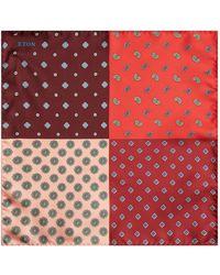 Eton of Sweden - Four Colour Paisley Pocket Square - Lyst