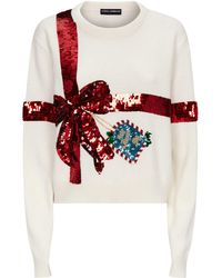 Dolce & Gabbana - Sequin-embroidered Jumper - Lyst