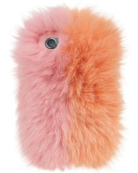 Charlotte Simone - Fox Fur Iphone Case, Pink, One Size - Lyst