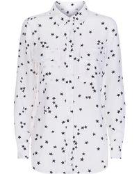 Equipment - 'slim Signature' Star Print Silk Shirt - Lyst