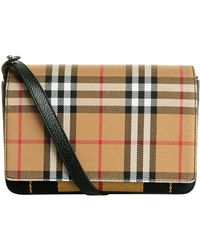 Burberry - Vintage Check Cross Body Bag - Lyst
