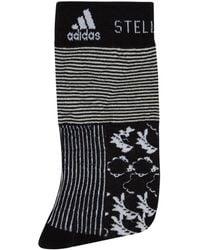adidas By Stella McCartney - Tall Striped Floral Socks - Lyst