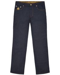 Billionaire - Embroidered Crest Format Fit Jeans - Lyst