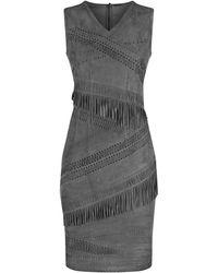 Elie Tahari - Blythe Fringe Dress - Lyst