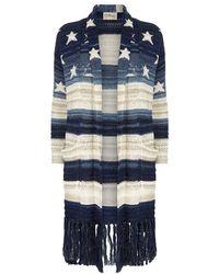 Denim & Supply Ralph Lauren - Cotton-linen Fringed Cardigan - Lyst