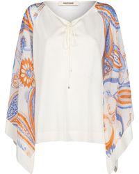 Roberto Cavalli - Printed Sleeves Jersey Kaftan - Lyst