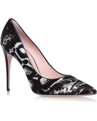 Ferragamo - Fiore Leopard Court Shoes 100 - Lyst