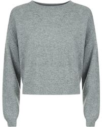 FRAME - Le Cropped Rib Cashmere Jumper - Lyst