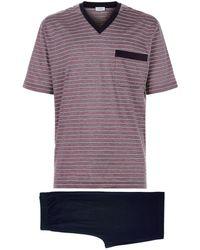 Zimmerli | Striped Pyjama Set, Red, L | Lyst