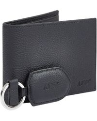 Armani Jeans - Wallet And Keyring Gift Set - Lyst