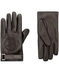 Giorgio Armani - Logo-embossed Leather Gloves - Lyst