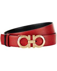 Ferragamo - Leather Gancio Belt - Lyst