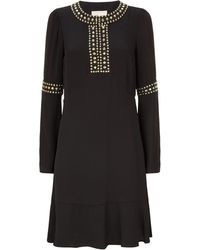 MICHAEL Michael Kors - Studded Bell Sleeve Dress - Lyst