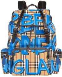 Burberry - Large Graffiti Vintage Check Rucksack - Lyst