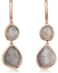 Monica Vinader - Siren Double Nugget Grey Agate Drop Earrings - Lyst