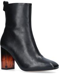 Kurt Geiger - Leather Strut Calf Boots - Lyst