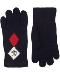 Moncler   Knitted Diamond Gloves   Lyst