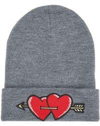 Maje - Heart Beanie Hat - Lyst