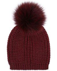 Sandro - Billie Knitted Pom Pom Beanie - Lyst