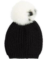 Sandro - Billie Fur Bobble Hat - Lyst