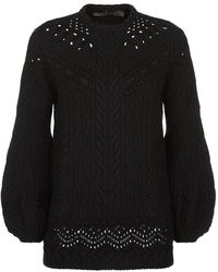 Elie Saab - Cable Knit Wool Jumper - Lyst