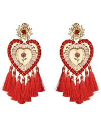 Mercedes Salazar - Tassel Heart Clip On Earrings - Lyst