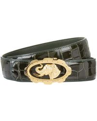 Stefano Ricci - Elephant Buckle Croc Belt - Lyst