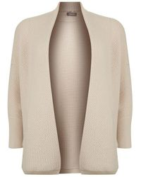 Basler - Cashmere-wool Open Knit Cardigan - Lyst