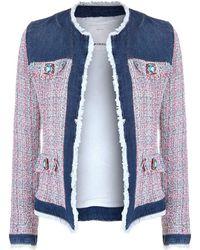 Pinko - Tweed And Denim Jacket - Lyst