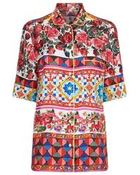 Dolce & Gabbana - Mambo Print Pyjama Top - Lyst
