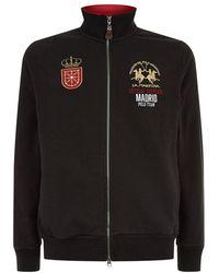 La Martina - Embroidered Zip-up Sweatshirt - Lyst