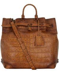 Burberry - Alligator Travel Bag - Lyst