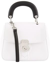 Burberry - Small Dk88 Top Handle Bag, White - Lyst