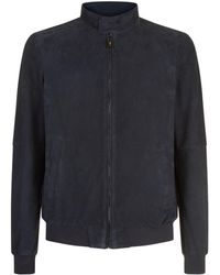 Pal Zileri - Suede Perforated Bomber Jacket - Lyst