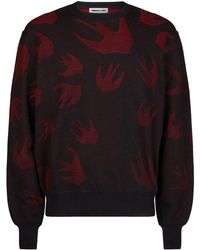 McQ - Knit Swallows Sweater - Lyst