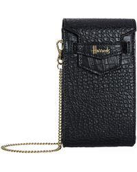 Harrods - Nano Mini Black Phone Bag - Lyst