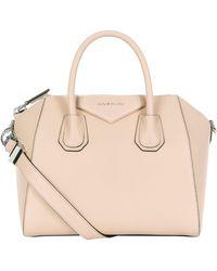 Lyst - Givenchy Grain Leather Mineral Blue Mini Antigona Bag in Blue 932965805d