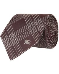Burberry - Check Silk Tie - Lyst