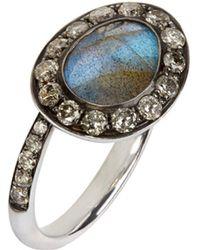 Annoushka - Dusty Diamonds Labradorite Side Ring - Lyst