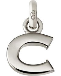 Links of London - Sterling Silver Letter C Charm - Lyst