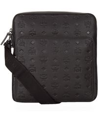 MCM - Embossed Leather Small Messenger Bag - Lyst