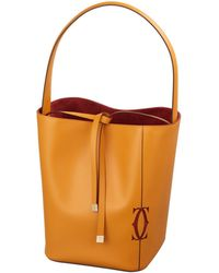 Cartier - Leather Must-c Bucket Bag - Lyst