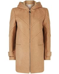 Sandro - Faux Shearling Lined Coat - Lyst